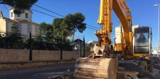 Comencen en Betxí les obres del carril bici a Cartonajes La Plana