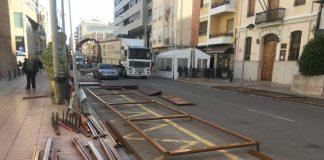 Compte enrere per a la Fira de Nadal de Vila-real amb l'inici del muntatge de les casetes en l'avinguda la Murà