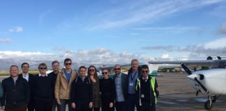Una desena de representats d'aerolínies presents a Avidev visiten l'Aeroport de Castelló