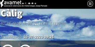 La localitat de Càlig entra a formar part de la xarxa de l'Associació Valenciana de Meteorologia (Avamet)